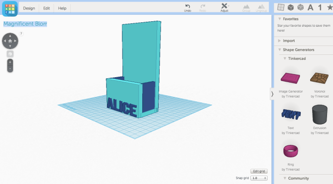 Our first foray into 3d Printing: The Design Project